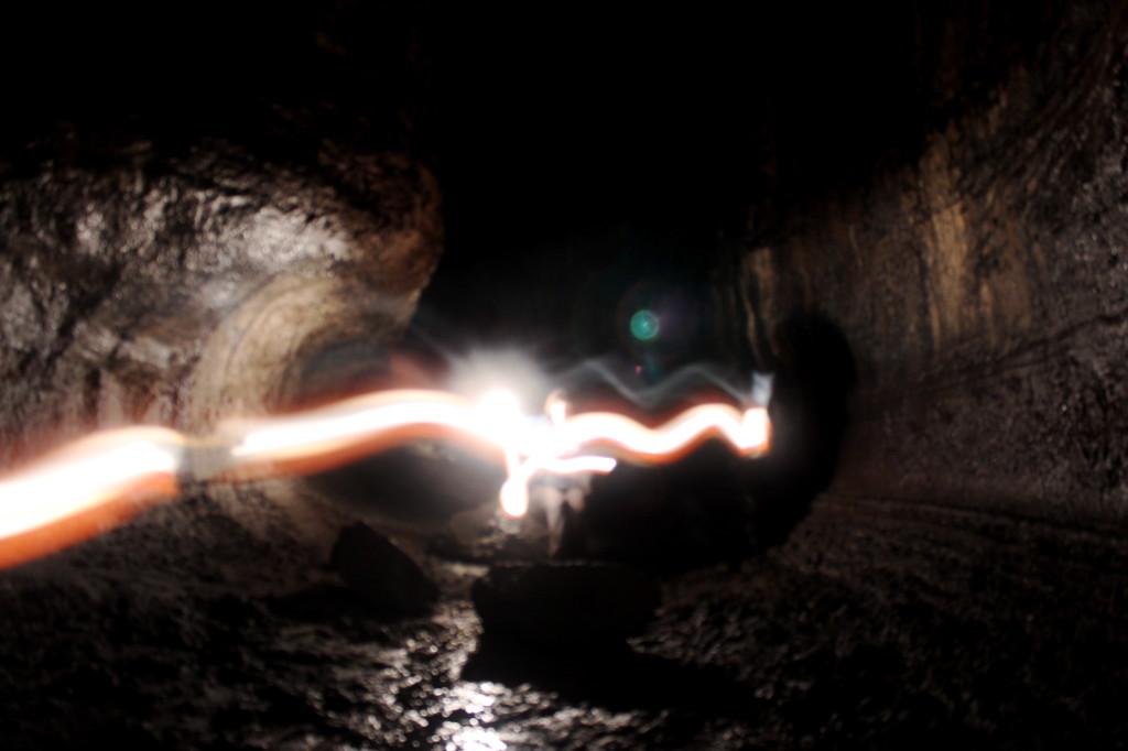 Ape Cave Light Streaks