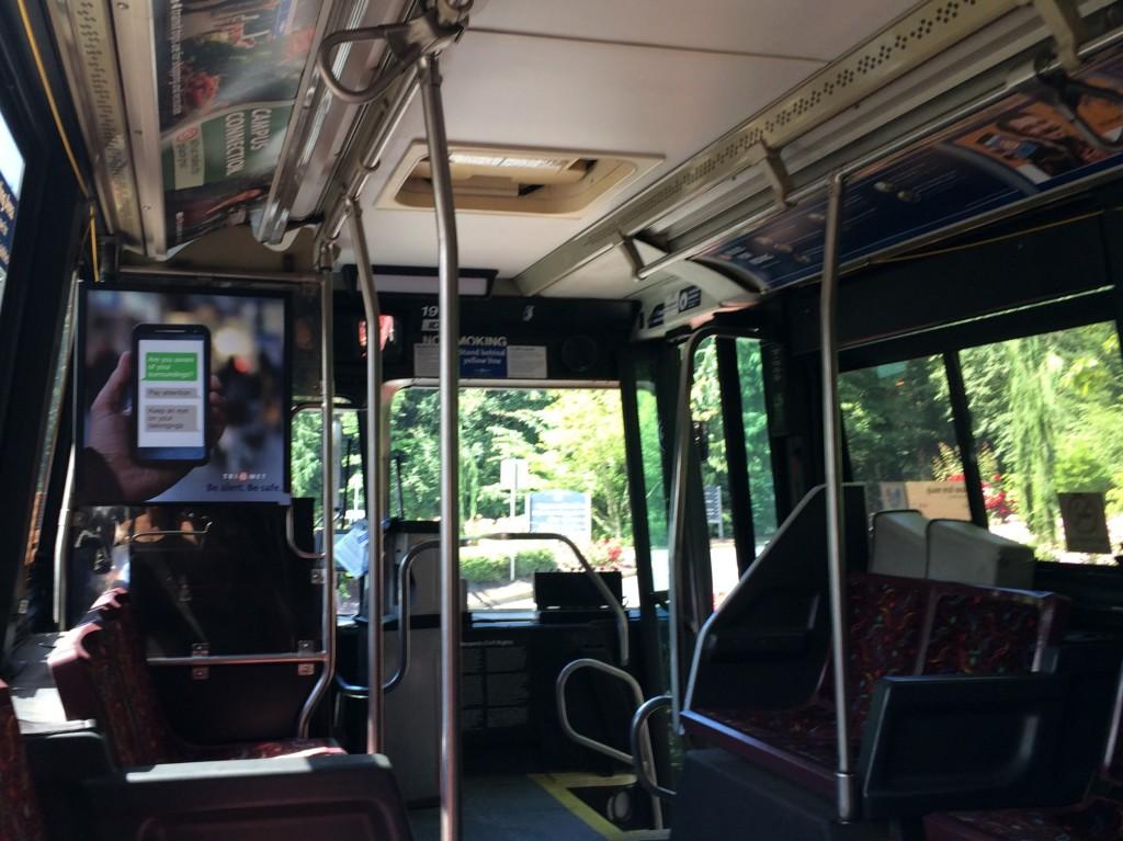 Line 83 Empty Bus
