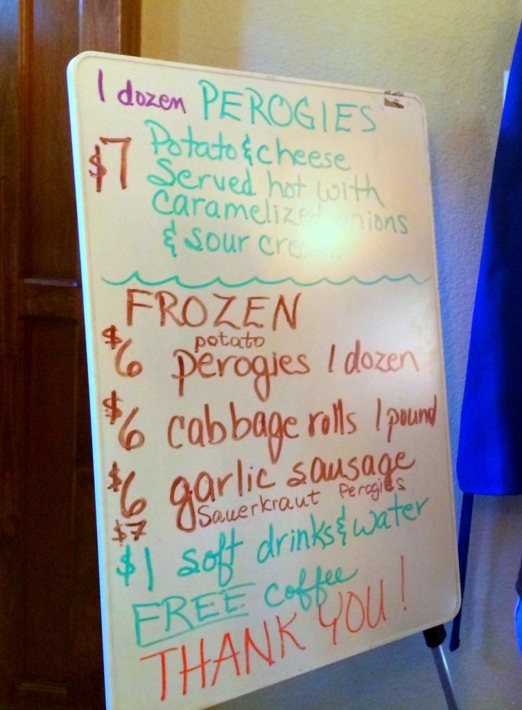 perogie menu