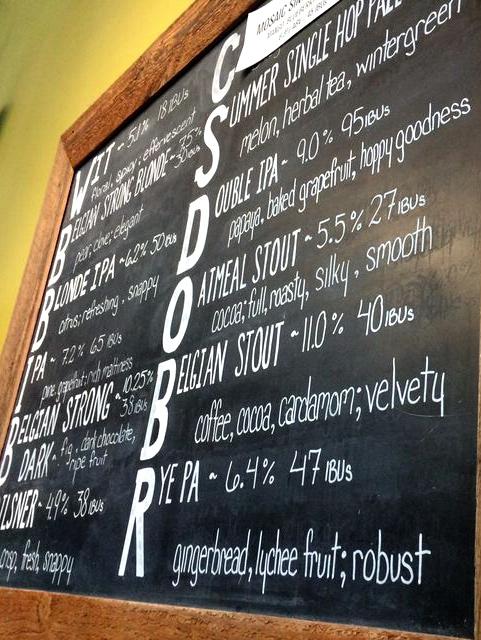 Pfriem menu