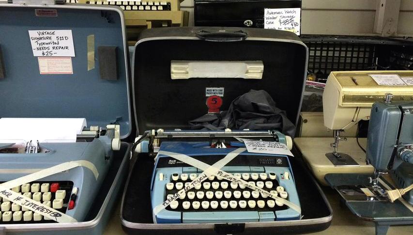 Scrap typewriter
