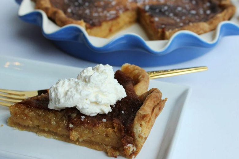 Salted honey pie styled