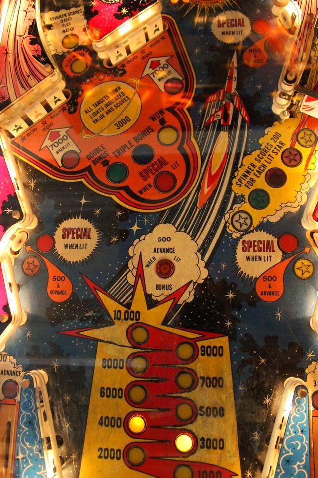 Pinball outreach lights and bells