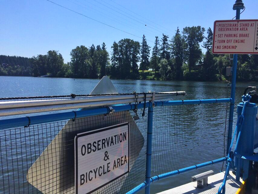 Canby ferry observation deck