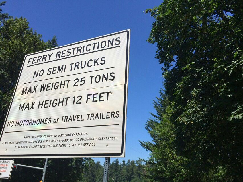 Canby ferry rules