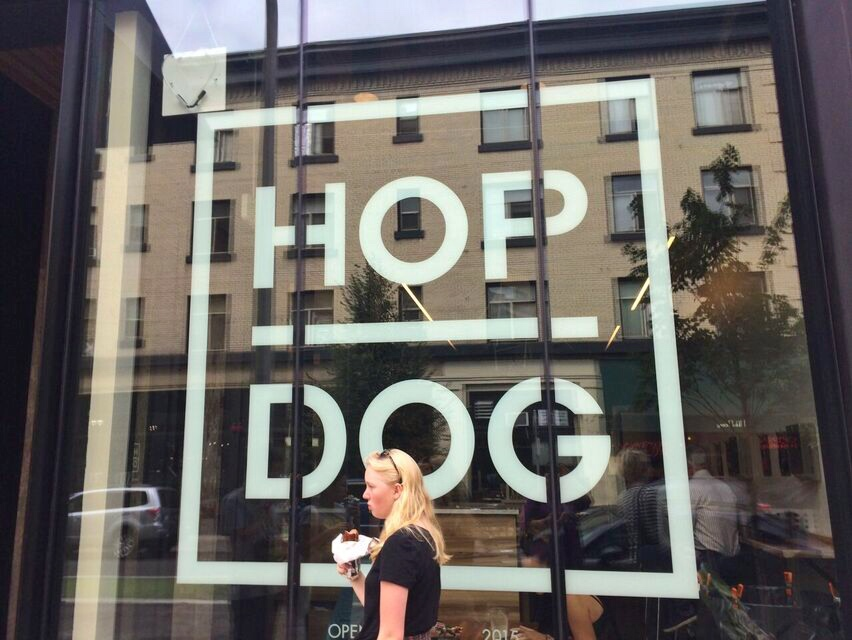 Hop Dog sign