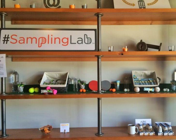 Sampling labs shelf
