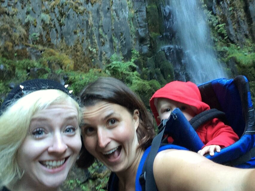 Dry creek falls group photo