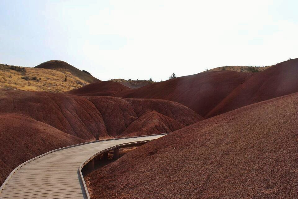 Painted hills red canyon walk
