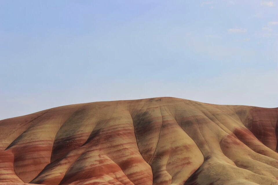 Painted hills striped hills
