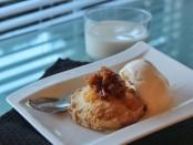 Apple Butter Tart a La Mode wide shot
