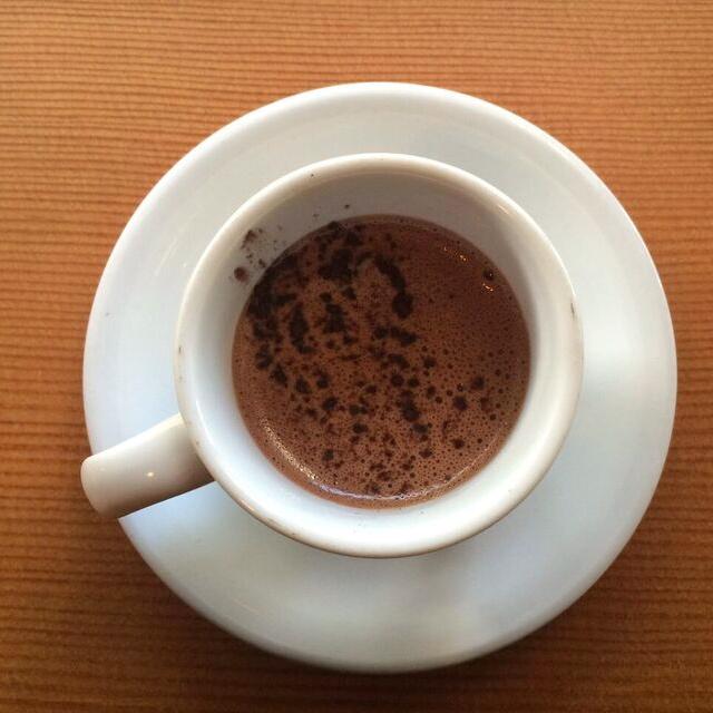 Caffeine crawl alma drinking chocolate