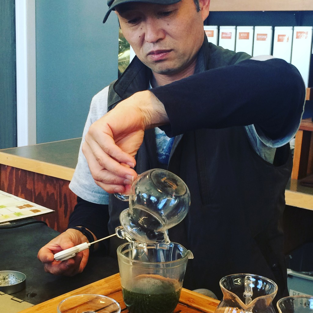 Caffeine crawl tea farmer
