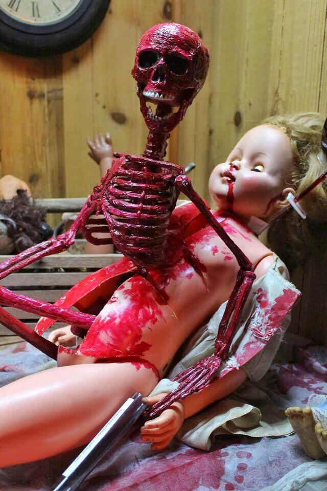 Doll asylum skeleton