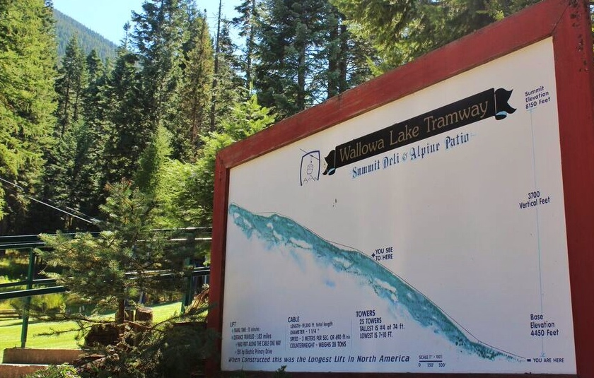 Wallowa Tram map