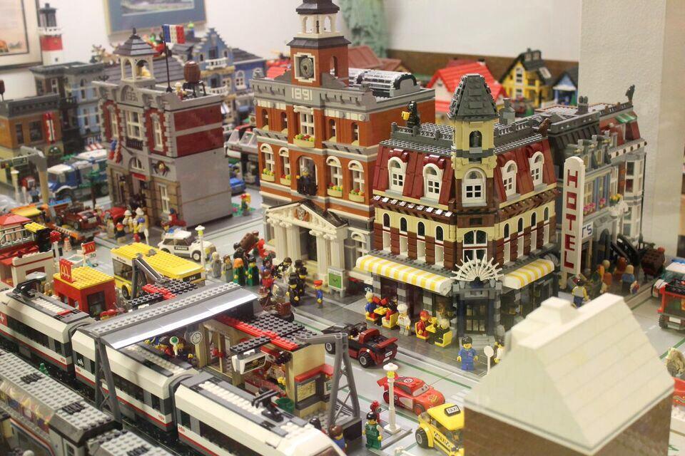 model railroad legos