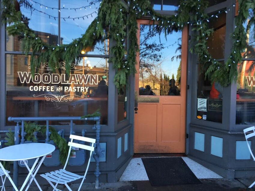 Woodlawn Coffee front door