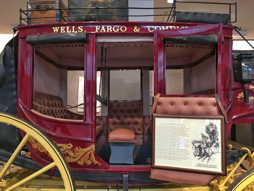 Wells Fargo Stage coach close up
