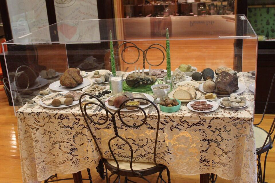 Hutson Museum rock table
