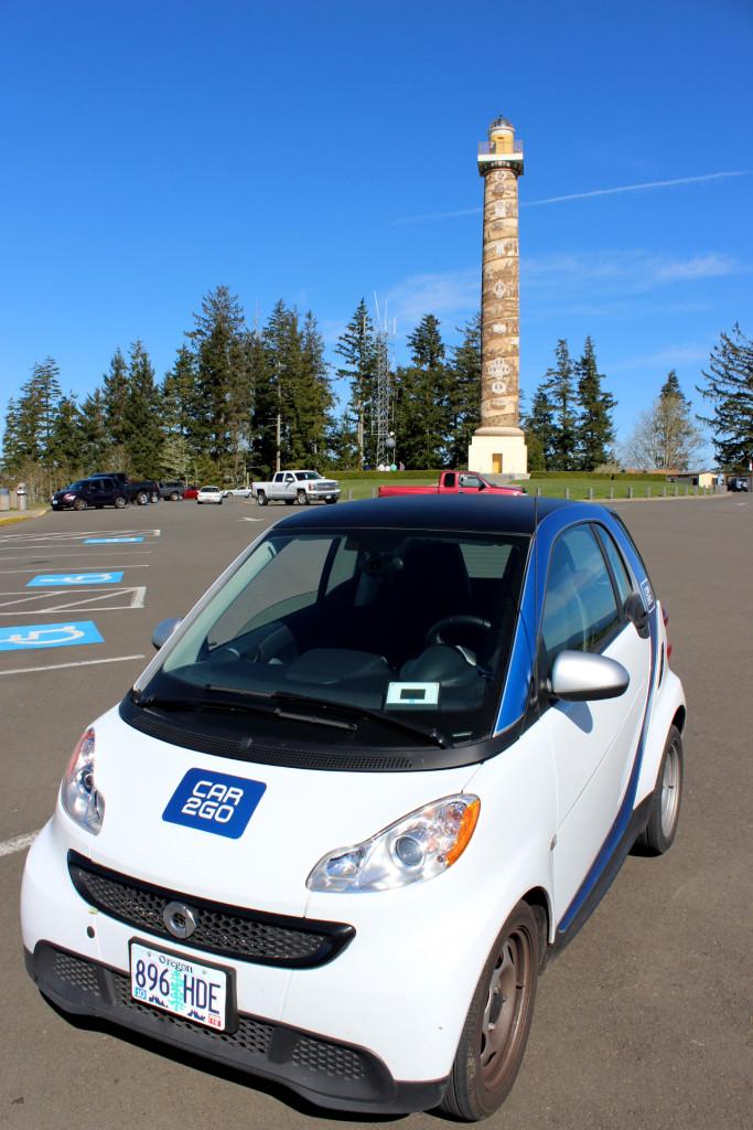 North Oregon Coast Astoria Column Car2Go