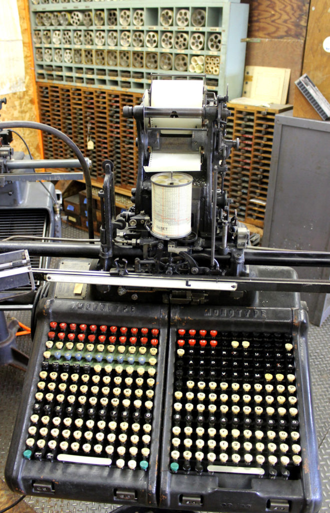 Museum of Typography type machine