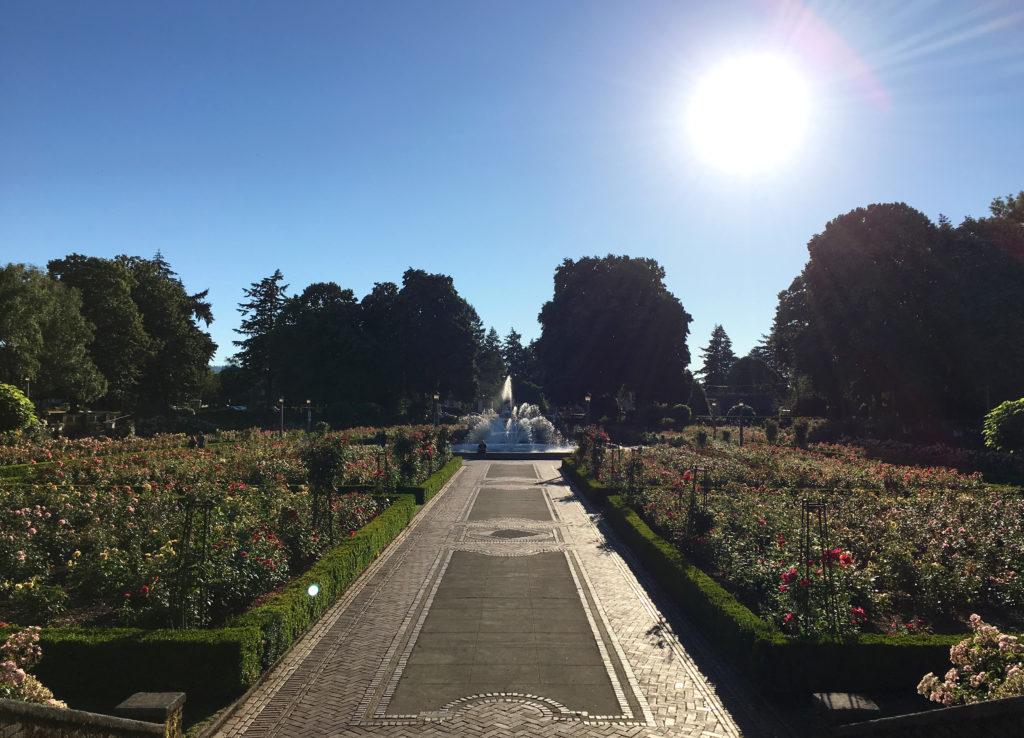 Peninsula Park Rose Garden pathway