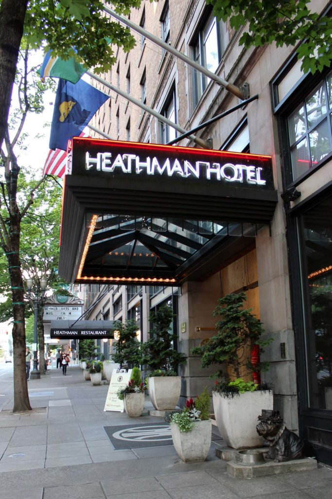 Heathman Hotel Entrance Day