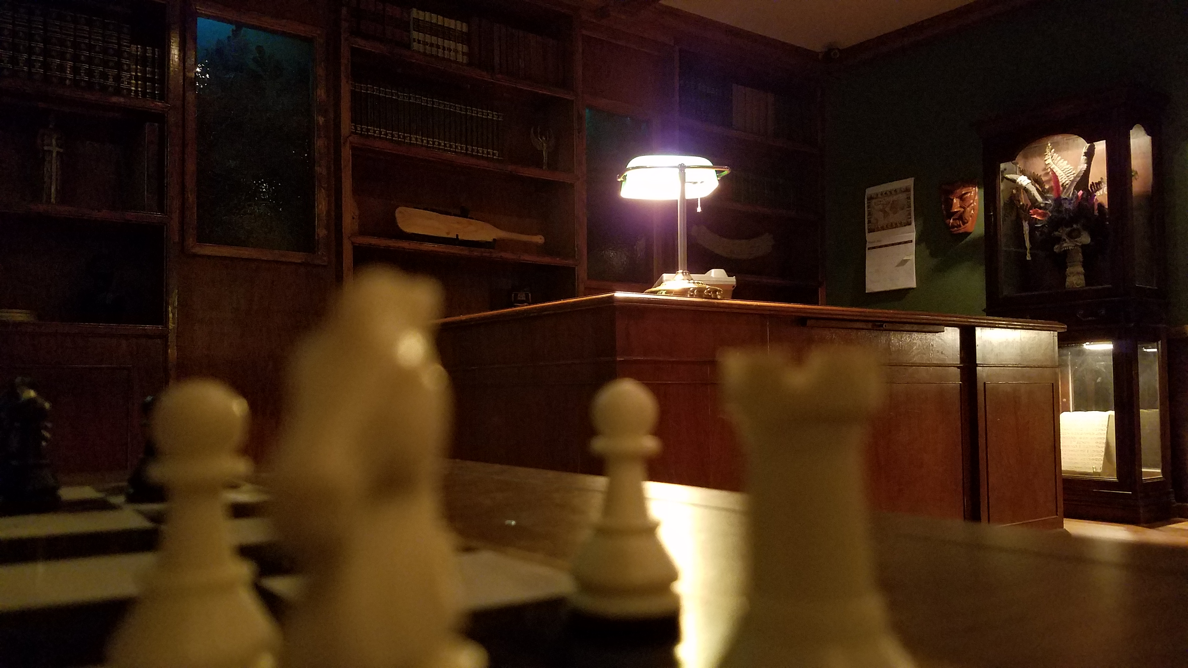 Hour To Midnight Chess Desk